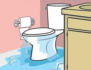 toilet leak water damage